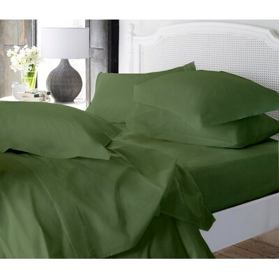 Clarke Super Soft Fitted Sheet Color: Sage, Size: Full/Double
