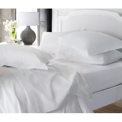 Clarke Super Soft Fitted Sheet Color: White, Size: Queen