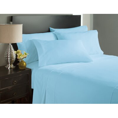 Dahlin Microfiber Flat Sheet Size: King, Color: Aqua
