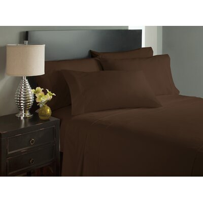 Dahlin Microfiber Flat Sheet Size: Twin, Color: Brown