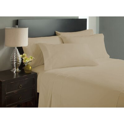 Dahlin Super Soft Microfiber Flat Sheet Size: King, Color: Cream