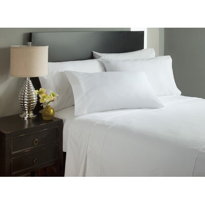 Dahlin Microfiber Flat Sheet Size: King, Color: White