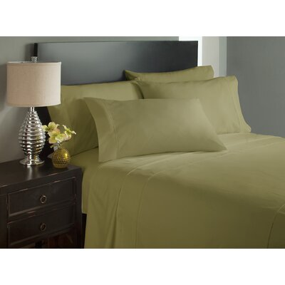 Dahlin Microfiber Flat Sheet Size: King, Color: Sage