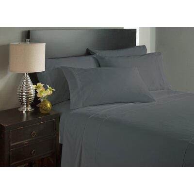 Dahlin Microfiber Flat Sheet Size: Queen, Color: Gray