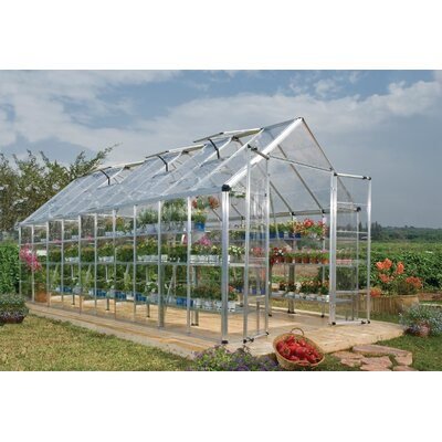 8 Ft. W x 20 Ft. D Greenhouse Finish: Silver HG8020