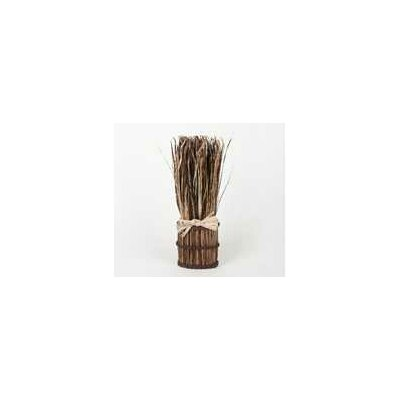 Dried Grass Bunch Decor Color: Brown