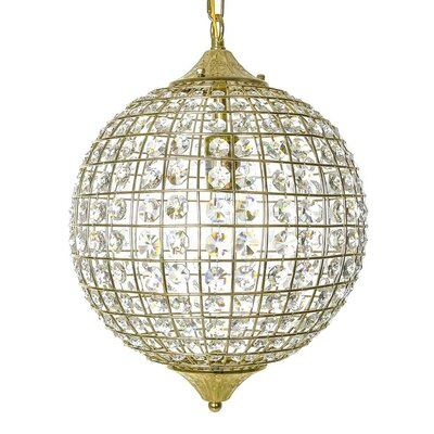 Glam 1-Light Globe Pendant