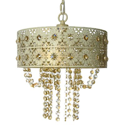 Jeweled Blossoms Crystal Chandelier