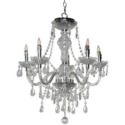 Glam Jewel 5-Light Crystal Chandelier