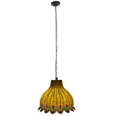 3-Lights Bowl Pendant Shade Color: Yellow