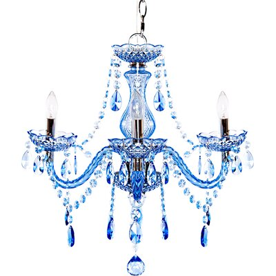 Jeweled Amethyst 3-Light Crystal Chandelier Crystal Grade: Sapphire