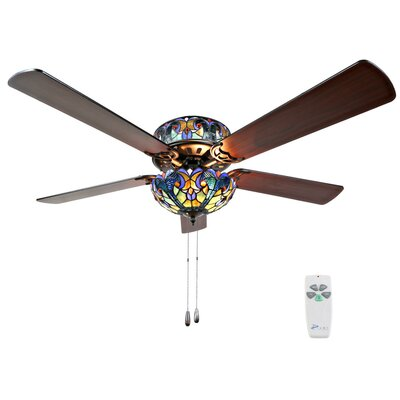 52 5-Blade Ceiling Fan with Remote