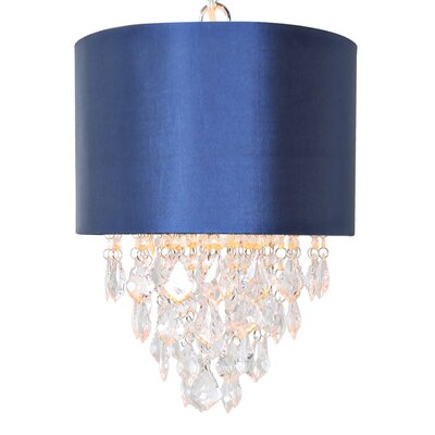 1-Light Tiered Crystal Drum Chandelier Color: Navy