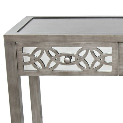 Azariah Mirrored 2 Drawer Console Table
