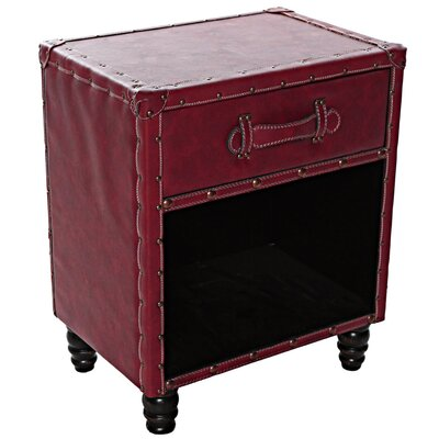 Dabria Faux Leather End Table