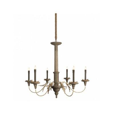 Landini 6-Light Candle-Style Chandelier Size: 48 H x 48 W x 42.5 D