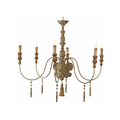 Italian 6-Light Candle-Style Chandelier