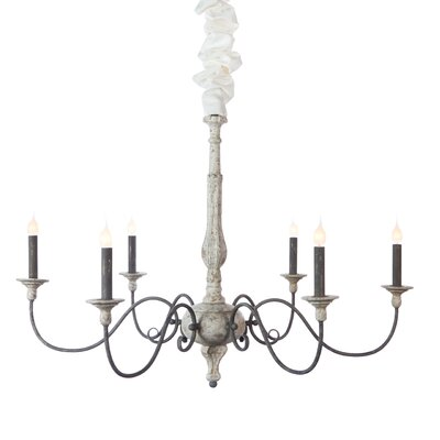Corinne 6-Light Candle-Style Chandelier