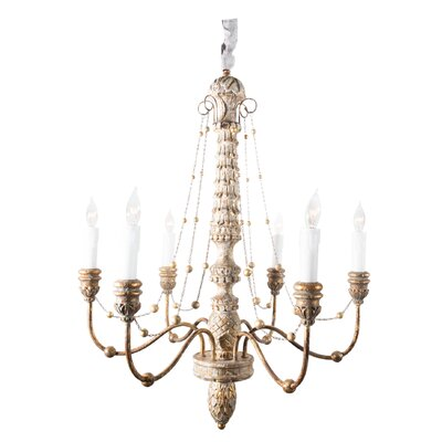 Lena 6-Light Candle-Style Chandelier