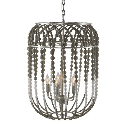5-Light Foyer Pendant Finish: Gray/White