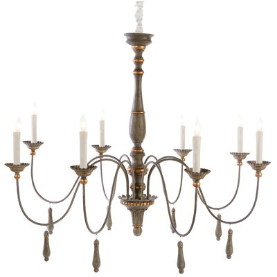 Agen 8-Light Candle-Style Chandelier