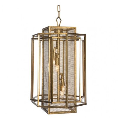 Chan Geo 3-Light Mini Chandelier