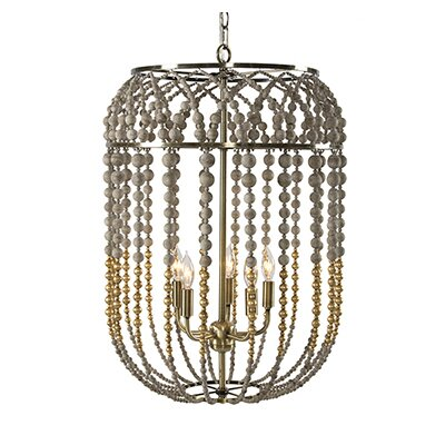 5-Light Foyer Pendant Finish: Gold