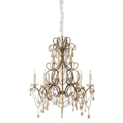 Carew Court 6-Light Crystal Chandelier