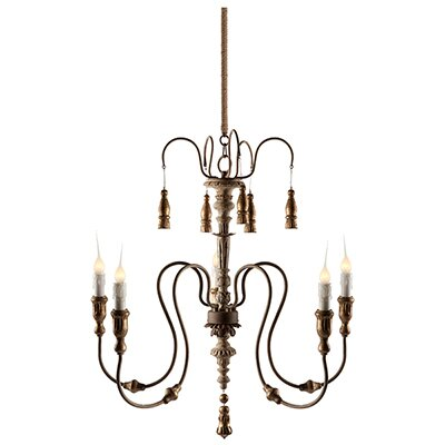 Graceful Elegance 4-Light Candle-Style Chandelier