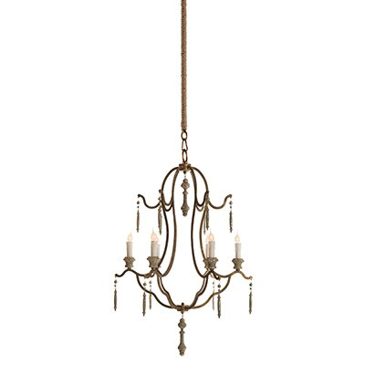 Marisol 6-Light Candle-Style Chandelier Color: Gold