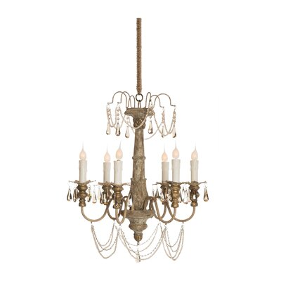 Forli 6-Light Crystal Chandelier
