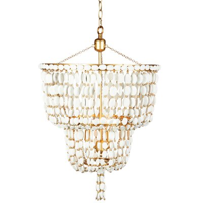 Sea Foam Two Tier Crystal Chandelier