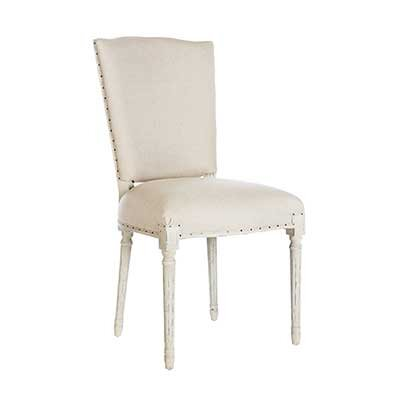 Ethan Upholstered Dining Chair (Set of 2) Leg Color: Parker Gray, Upholstery Color: Dark Linen