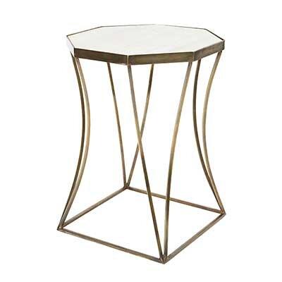 Cuadrado End Table Table Base Color: Antique Brass