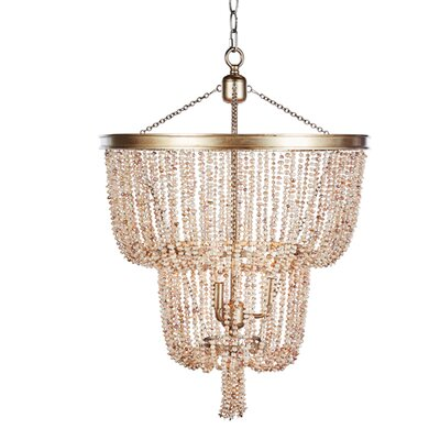 Pearl 2 Tier Crystal Chandelier