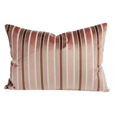 Rose Velvet Lumbar Pillow (Set of 2)