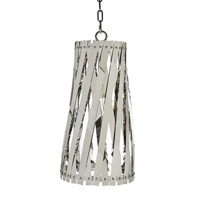 Modern Basket Weave Mini Pendant Shade Color: Mirrored Nickel