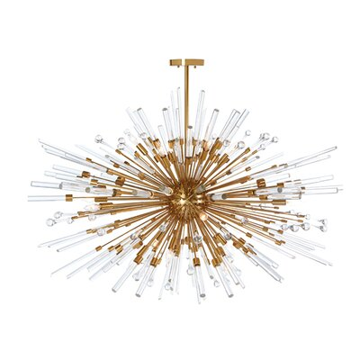Kepler Sputnik Chandelier Finish: Antique Brass