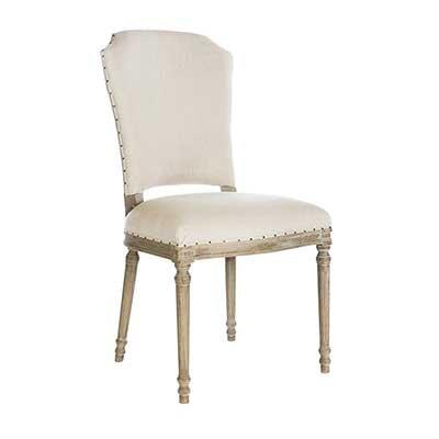Chelsea Upholstered Dining Chair (Set of 2) Leg Color: Burnt Oak, Upholstery Color: Dark Linen
