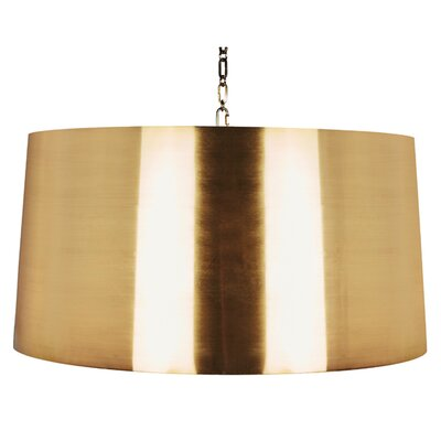 Large Fanning Drum Pendant (Set of 2) Finish: Antique Brass, Size: 15 H x 30 W x 30 D