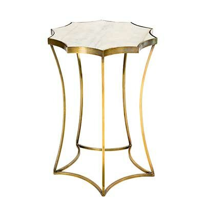 Astre End Table Table Base Color: Antique Brass