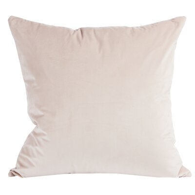 Rose Velvet Throw Pillow (Set of 2) Color: Pink