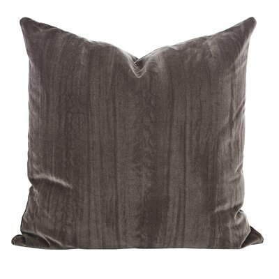 Smoky Velvet Throw Pillow (Set of 2) Color: Smoke