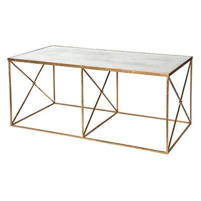 Furano Coffee Table Table Base Color: Gold