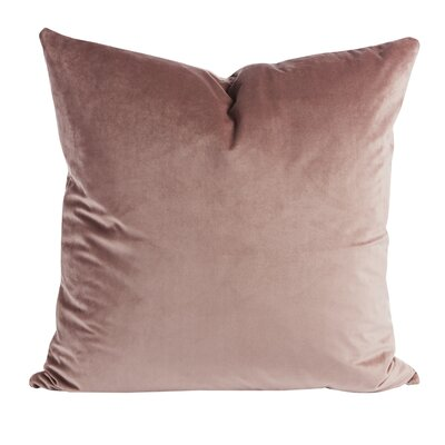 Rose Velvet Throw Pillow (Set of 2) Color: Dusty Rose