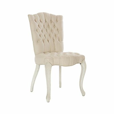 Adare Manor Upholstered Dining Chair (Set of 2) Leg Color: Parker Gray