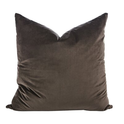 Argent Throw Pillow (Set of 2) Color: Charcoal