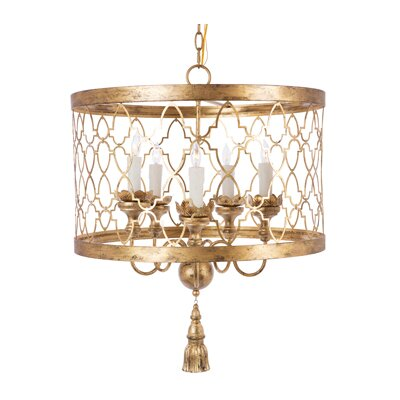 Fiesole 5-Light Drum Chandelier