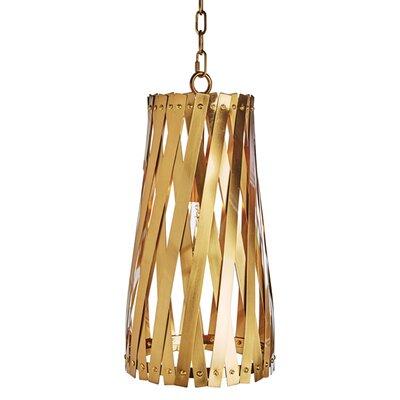 Modern Basket Weave Mini Pendant Shade Color: Antique Brass