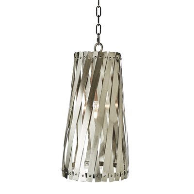 Modern Basket Weave Mini Pendant Shade Color: Stainless Steel